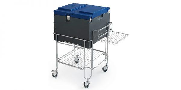 IFI Gelato CoolBox pans dicht met kar - schuin