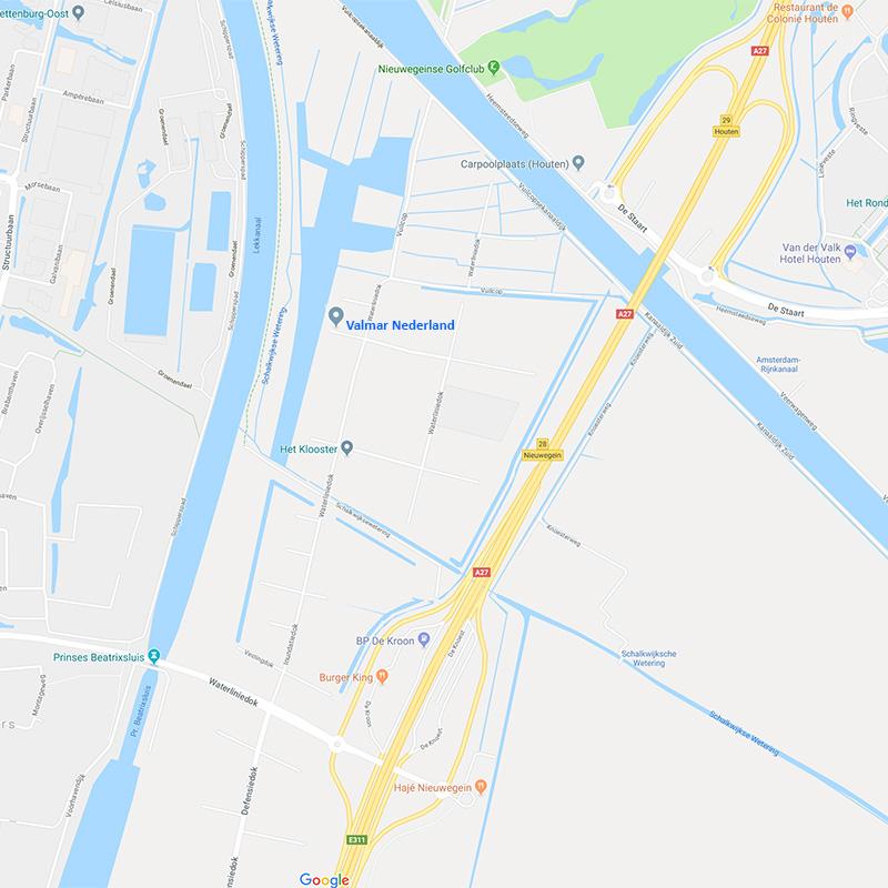 Kaart naar Valmar Nederland